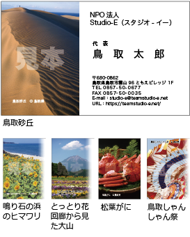 「鳥取砂丘」他 20枚x5種類セットC